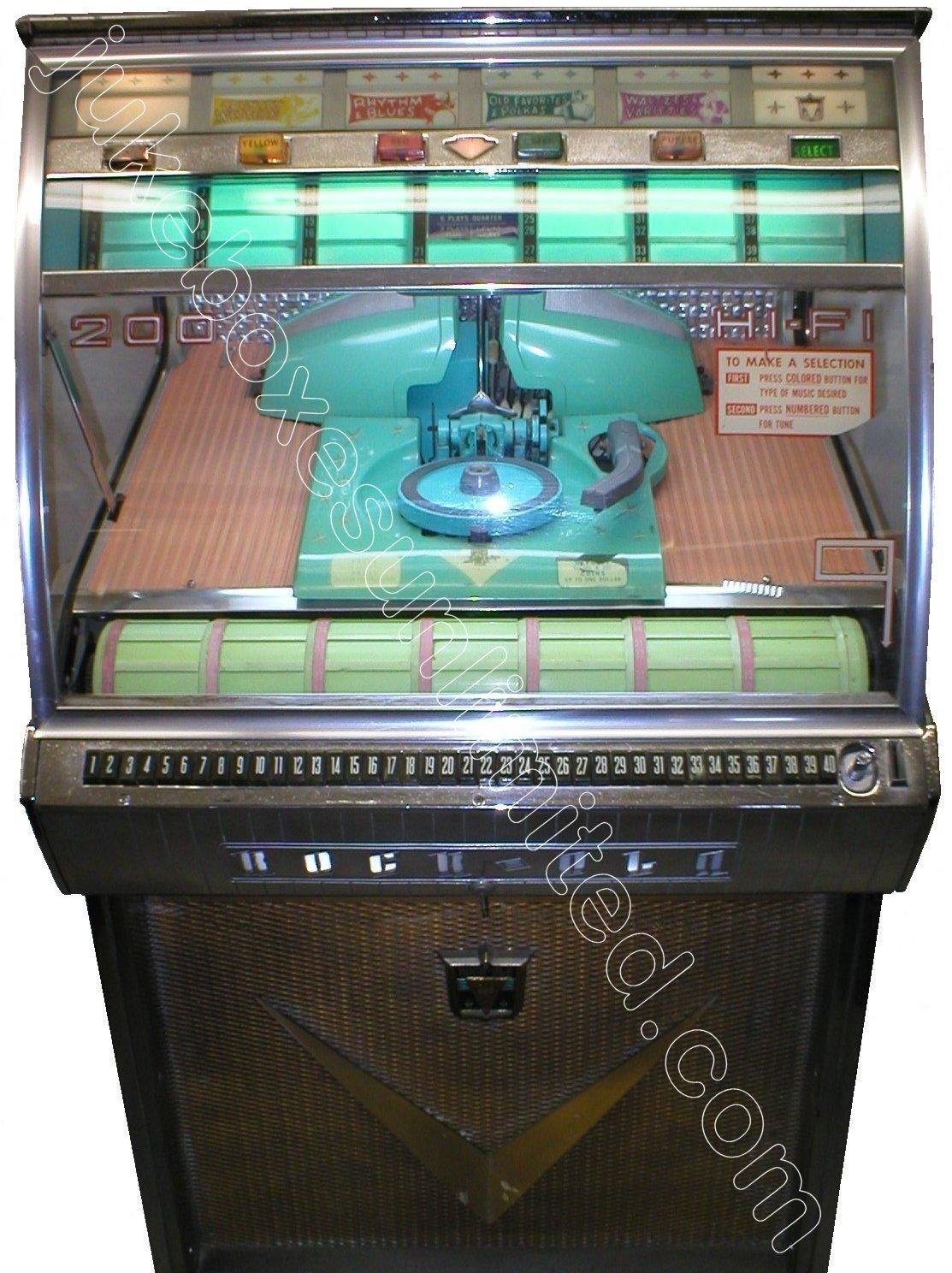 Rockola Jukebox Values 1958 Rockola 1465 Jukebox